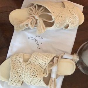 Size 38 brand new with box ivory Joie sandals